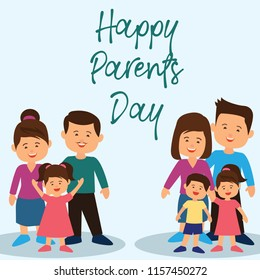 happy parent's day concept. vector illustration