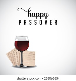 Happy Passover background traditional matzoh and wine EPS 10 vector royalty free stock illustration for greeting card, ad, promotion, poster, flier, blog, article, social media, marketing
