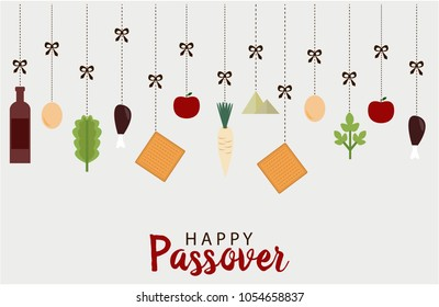 Happy Passover greeting card or background. vector illustration.