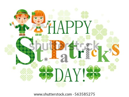 6e72b30e1b20 Happy Patrick Day Symbols Border Isolated Stock Vector (Royalty Free ...