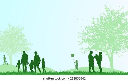 happy people outdoors