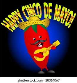 Happy pepper singing a happy Cinco De Mayo song.