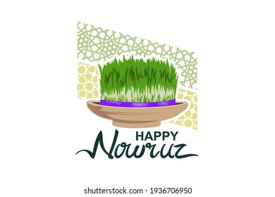 Happy Persian New Year (Nowruz) vector illustration. Suitable for greeting card, poster and banner.
