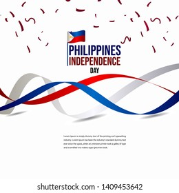 Happy Philippines Independence Day Celebration Vector Template Design Illustration