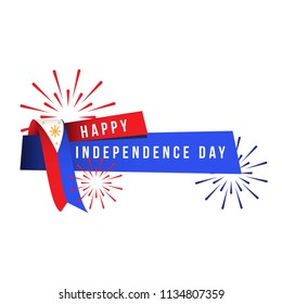 Happy Philippines Independence Day Vector Template Design