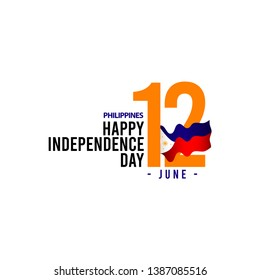 Happy philippines independence day vector template. design for greeting card, banner or print.