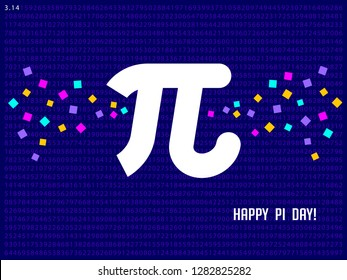 Happy Pi Day! Celebrate Pi Day. Mathematical constant. March 14th (3/14). Ratio of a circle's circumference to its diameter. Constant number Pi