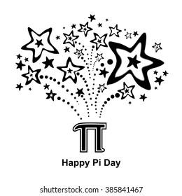 Happy pi day. Vector illustration