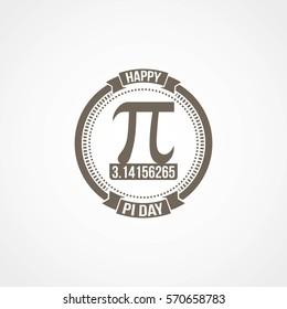 Happy Pi Day Vector Illustration.