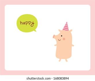 happy pig go party