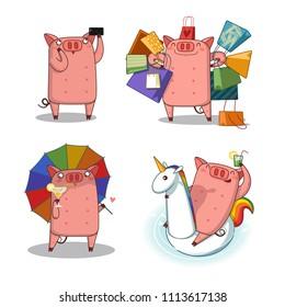 happy pig/big set