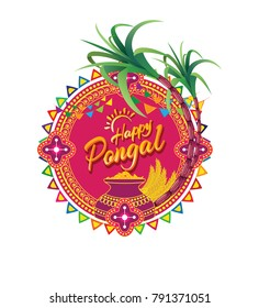 Happy Pongal Background Vector Illustration