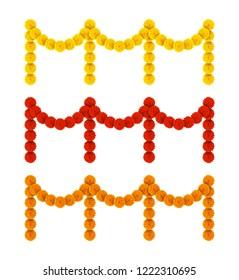 Happy pongal with Flower garland decoration toran