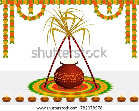 Happy pongal wishes greeting background design stock vector royalty happy pongal wishes or greeting background design m4hsunfo