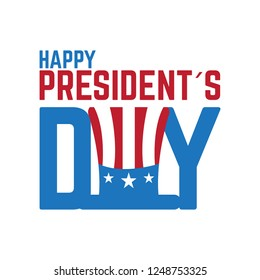 Happy president day image. Vector illustration design