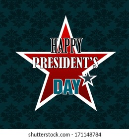 Happy Presidents Day American Background