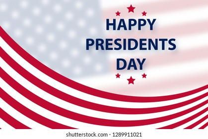 Happy Presidents Day background template.  United States Happy president's day - poster with flag of the USA. Patriotic background with USA symbols
