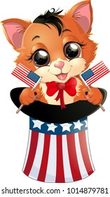 Happy Presidents Day kitten