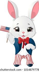 Happy Presidents Day rabbit