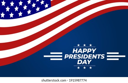 Happy Presidents Day Vector Illustration. Suitable for greeting card, poster and banner. Illustration Of happy Presidents Day. Vector EPS 10.