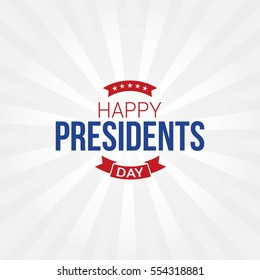 Happy Presidents Day Vector Illustration. Suitable for greeting card, poster and banner.