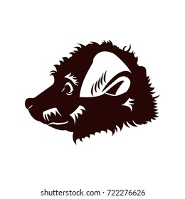 outline porcupine on white background silhouette stock illustration