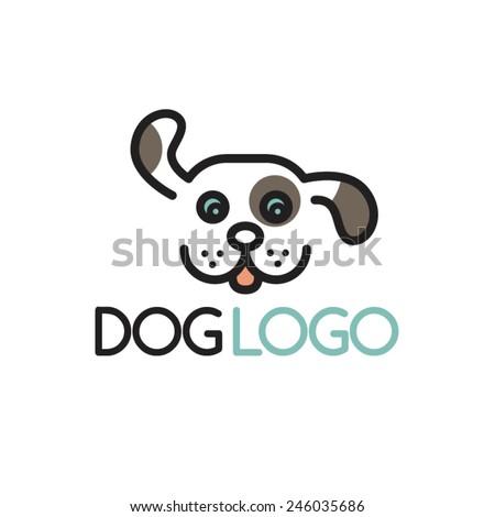 Happy Puppy Abstract Dog Logo Design Stock Vector Royalty Free