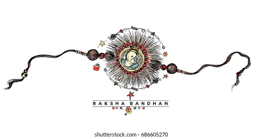 Happy Raksha Bandhan celebration Poster.