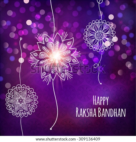 Happy raksha bandhan greeting card indian stock vector royalty free happy raksha bandhan greeting card for indian holiday with original ornamental bangle vector illustration m4hsunfo
