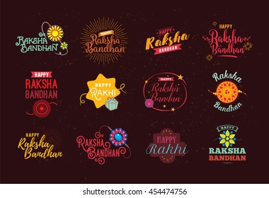 graphic regarding Rakhi Cards Printable identified as Delighted Raksha Bandhan Pictures, Inventory Photographs Vectors