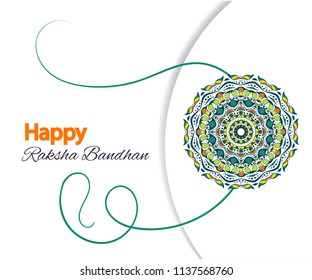 Happy Raksha Bandhan. Vector Illustration with rakhi