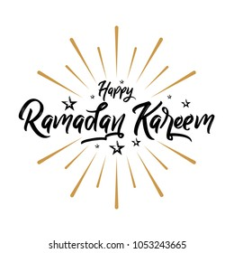 Happy Ramadan Kareem, Typography Lettering Caligraphy