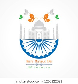 Happy Republic Day of india illustration vector, poster design stock vector