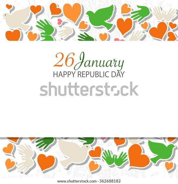 Happy Republic Day India Vector Illustration Stock Vector