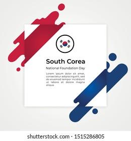 Happy Republic of Korea National Foundation Day Vector Design Template Illustration