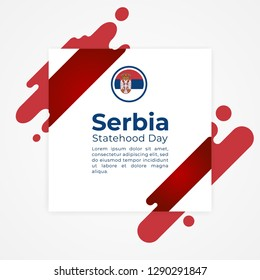 Happy Republic of Serbia Statehood Day Vector Template Design Illustration