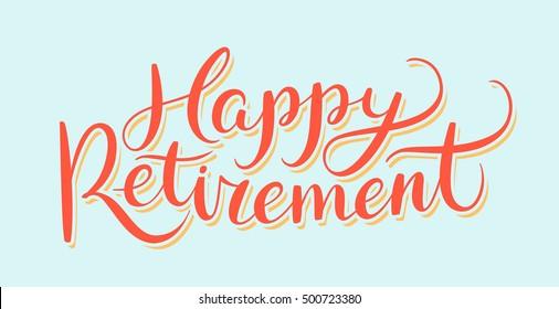 Happy Retirement banner.