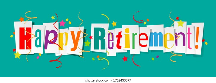 Happy retirement on cut letters