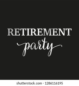 Happy Retirement Party banner and invitation vector design. Wish card for pension.