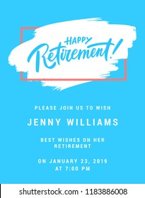 Happy retirement. Party invitation.