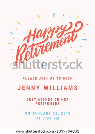 happy retirement party invitation template stock vector royalty