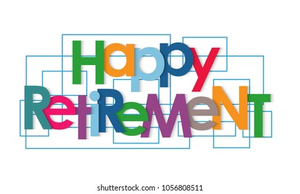 Happy retirement vector letters