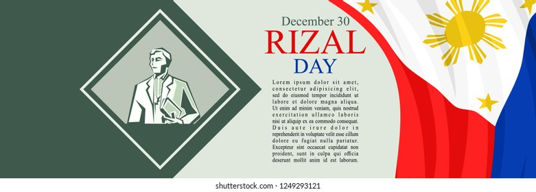 Happy Rizal Day Vector Illustration. Suitable for greeting card, poster and banner.
