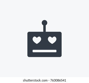 happy robot icon isolated on clean background. happy robot icon concept sign for your web site, mobile, logo, app and ui design happy robot icon vector illustration