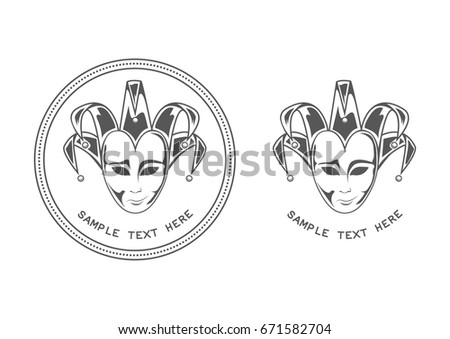 happy sad vector clown logo template stock vector royalty free