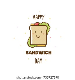 Happy Sandwich Day. Vector illustration.