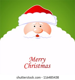 Happy Santa Claus. Creative Christmas card