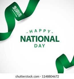 Happy Saudi Arabia Independent Day Vector Template Design Illustration