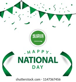 Happy Saudi Arabia National Day Vector Template Design Illustration