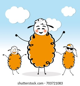 Happy sheeps